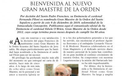Publicada la Newsletter n. 56 del Gran Magisterio