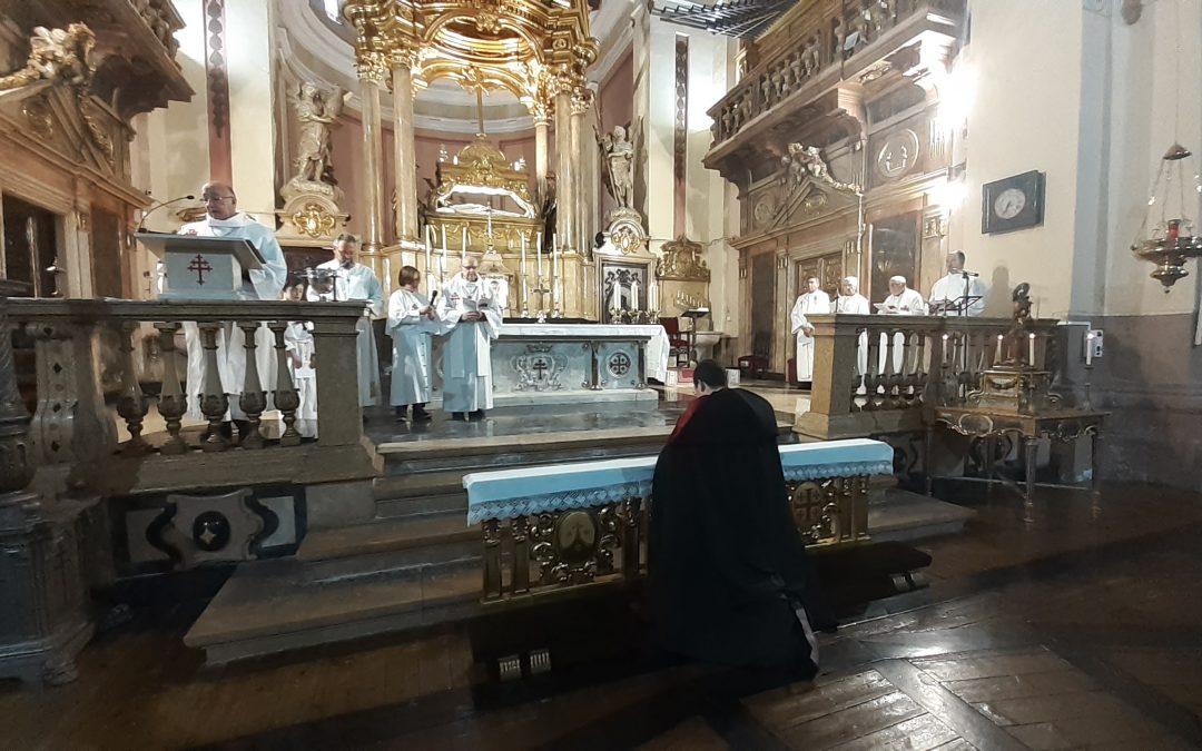 Toma de posesión como canónigo del nuevo Prior de la Colegiata del Santo Sepulcro de Calatayud
