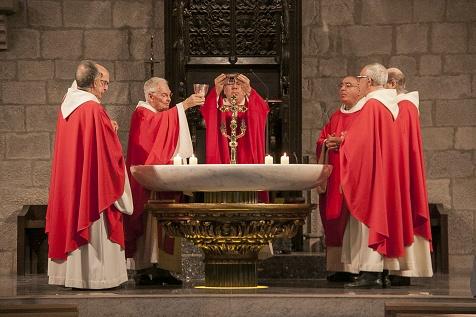 Celebración de la fiesta de la exaltación de la Santa Cruz en la Catedral de Girona