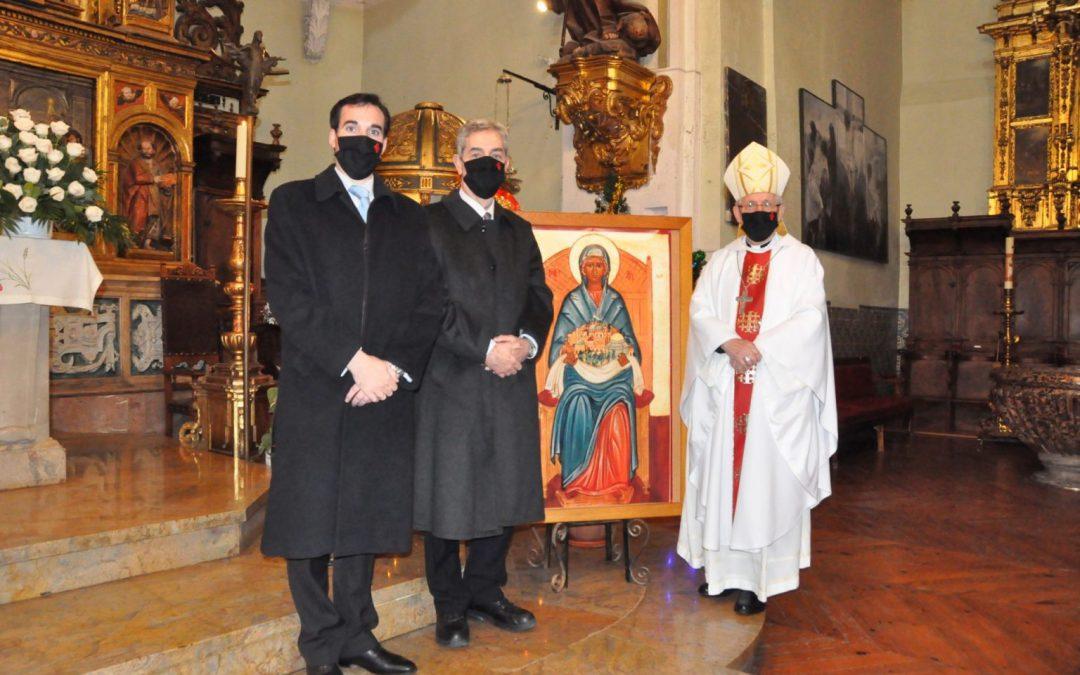 El obispo de Tarazona preside la fiesta de la Virgen de Palestina