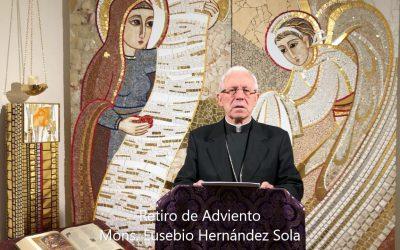 Retiro de Adviento por Mons. Eusebio Hernández Sola, Obispo de Tarazona, Caballero Gran Oficial de la Orden del Santo Sepulcro y Prior de la Sección de Aragón.