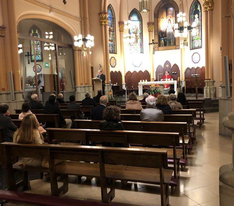 Misa mensual de la Lugartenencia en la Parroquia de la 'Mare de Déu de Núria'