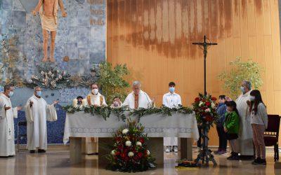 Asistencia de la delegación de Tarragona a la Parroquia de 'Sant Josep Obrer i de la Mare de Déu del Roser' de Reus, con motivo de la fiesta patronal de San José