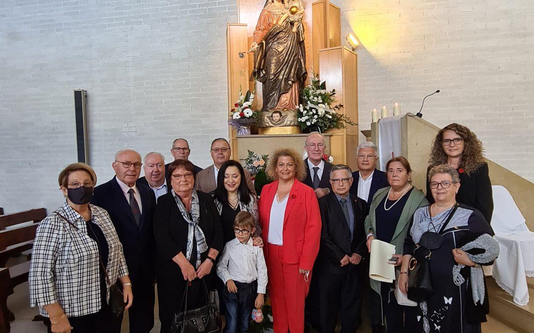Celebración de la Santa Misa en honor de la Mare de Déu del Roser
